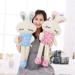 Wholesale Led Light Monkey - 75cm LED Glowing Easter Bunny Doll Plush Rabbit Cute Stuffed Toys Colorful Bunny Light Plush Toys Girls' Valentine's Day Gifts CCA8901 20pcs