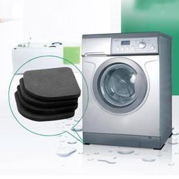 2019 kupfer-schubladen-knöpfe Multifunktionale Waschmaschine Shock Pads rutschfeste Matten Kühlschrank Shock Mute Pad 4 teile / satz Schwarz