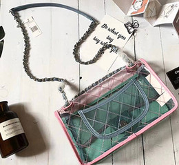 Wholesale Spring Summer Totes - 2018 new style women PVC shoulderbag hot selling in summer and spring two tone colors luxury quality whosale