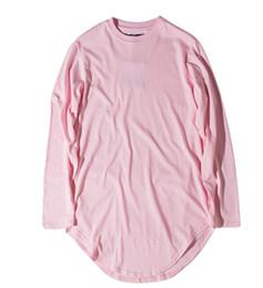 2019 männer irreguläre hemden Mens High Street Langarm T-Shirts 6 Farben Unregelmäßige T-Shirts Mens Fashion Brand Herbst Crew Neck Cutton Tshirts rabatt männer irreguläre hemden