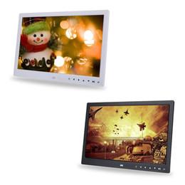 15-дюймовый 1280 * 800 HD сенсорный экран цифровой фоторамка будильник Видеоплеер от Поставщики экранный видеоплеер