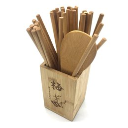 Wholesale chopstick container - Chopsticks Tube Plum Orchid Bamboo And Chrysanthemum 4 Kinds Of Storage Containers Easy To Clean Durable Kitchen Supplies