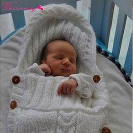 2019 manta de mes de mes Bebé Recién Nacido Wad Swaddle Manta Kids Toddler Wool Knit Blanket Swaddle Baby Saco de dormir Sack Stroller Wrap para 0-12 Meses manta de mes de mes baratos
