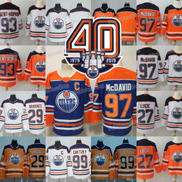 2018-19 Edmonton Oilers 40th Patch 27 Milan Lucic 93 Ryan Nugent-Hopkins 97 Connor  McDavid Wayne Gretzky Leon Draisaitl Cam Talbot Jersey ryan nugent ... a931a9561