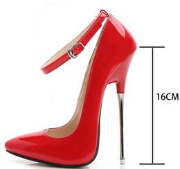 2019 exibição de sapatos grátis 2018 frete grátis tamanho grande noite clun sapatos T show de super salto alto 16 cm sexy mulheres sapatos 433 desconto exibição de sapatos grátis