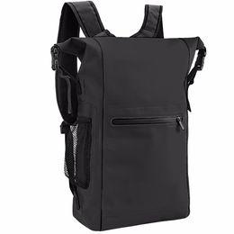 2019 caso reflexivo iphone Mochila impermeável, 25L Roll Top leve Flutuante Dry Bag com correias ajustáveis e bolso com zíper exterior para desporto ao ar livre