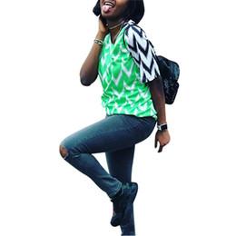 Wholesale block standard - 2018 Fashion world cup Nigeria soccer jerseys women girls home away STARBOY Nigeria football t-shirts floral designs block color tops best