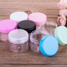 Wholesale Small Plastic Jars Wholesale - 20ml cream Jar boxes 20g Empty Plastic Cosmetic Container Small Sample Makeup Cream Lotion Cosmetic Essential Oils Diffusers