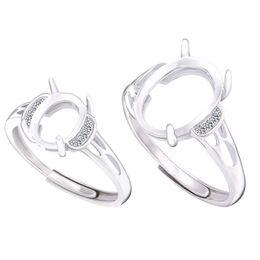 3f9df44750a9 Ajustes de anillo de montaje semi ajustable para piedra oval 7x9 mm 10x14  mm Sólido 925 joyería de mujer de plata trenza regalos de dama de honor 925  ...