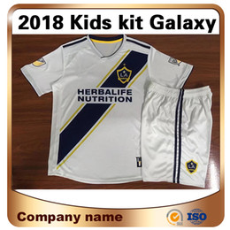 Wholesale galaxy uniforms - 2018 NEW Galaxy 9 IBRAHIMOVIC Kids kit Soccer Jersey 18 19 home ALESSNDRINI J.DOS SANTOS LLETGET Soccer shirt Children football uniforms
