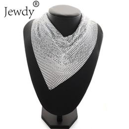 Wholesale Triangle Tassel Necklace - whole saleStatement Necklace Fashion Jewelry Women Big Triangle Tassel Wedding Choker Necklace Luxury Metal Choker Crystal Collier 2017