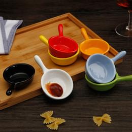 accessoires de sushi Promotion 3pcs ZAKKA Mini poignée en céramique sauce assaisonnement assiettes vinaigre assiettes plat à servir plateau de cuisine accessoires de cuisine