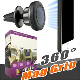 Wholesale vent mount for gps - Magnetic Car Air Vent Mount Holder MagGrip 360 Rotation Universal Cell Phone Holders Swivel Head for iPhone and Android Smartphones , GPS
