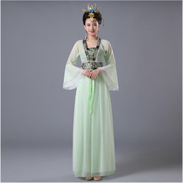 blue chinese costume Promo Codes - DJGRSTER Chinese Traditional Women Hanfu Dress Chinese Fairy Dress 8 Colors Hanfu Clothing Tang Dynasty Ancient Costume