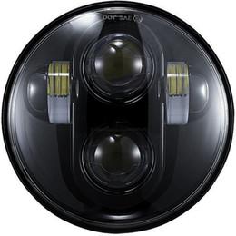 """Proiettore del motociclo h4 online-Nuovo faro da 5 3/4 """"per motociclo a fascio alto / basso LED faro da 5,75 pollici ad angolo tondo H4"""