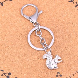 Wholesale Side Bags Men - Fashion double sided squirrel keychain can be used for car key accessories bag accessories