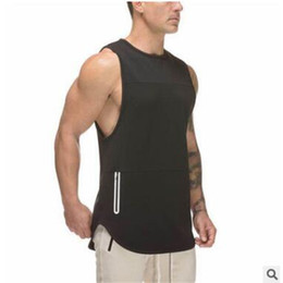Wholesale mens summer tank tops - New Trend Mens Sleeveless Tank Tops Summer Print Cotton Male Tank Tops gyms Clothing Bodybuilding Undershirt Fitness tank top