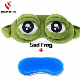 3D grenouille triste masque de sommeil sommeil bandeau yeux couverture de glace ombre à paupière en peluche bourré anime costumes de Cosplay drôles jouets cache-oeil ? partir de fabricateur