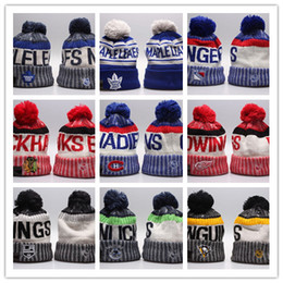 95eaffc6fb9 Winter Beanie Hats for Men Knitted NHL Wool Hat Gorro Bonnet with San Jose  Sharks Beanie Boston Bruins Pittsburgh Penguins Winter Warm Cap