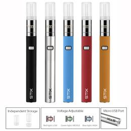 Wholesale vape replacement battery - Authentic Yocan Stix Vape Pen Kits 320mAh VV Battery Juice Pen 0.6ml Cartridges Leak-proof Vaporizer & Yocan Stix Replacement Coils