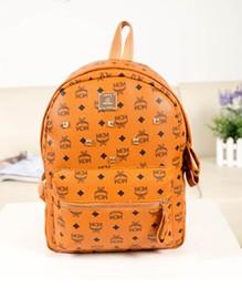 ouro dourado da bolsa Desconto Hot New Germany design Clássico Munich M Novo Rebites mochila mochila bolsa ocasional bolsa de Ombro Estudante Boy menina saco Satchel