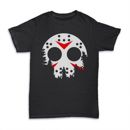 jason luna máscara de la cara parodia en forma de camiseta mashup dtg para hombre de manga corta de algodón de la manera camiseta envío gratis desde fabricantes