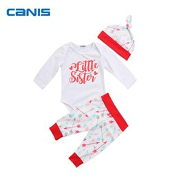 CANIS Brand Cotton Blend Adorable Newborn Baby Clothes Girls Cotton Tops Romper  Pants Casual Outfits Set Clothes 0-24M d98db930b2ae
