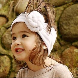 микс мастер оптом Скидка Baby Girls Спиральный узел Головной убор Хлопок Дети Девочки Эластичные полоски для волос Turban Bows для девочек