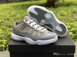 Wholesale cooling table - Newest 2019 11 Low Cool Grey 11S Basketball Men Shoes Sports Sneakers Authentic 2018 Real Carbon Fiber 528895-003 With box 40-47.5
