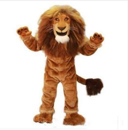 2019 mascote, trajes, leão 2018 Alta qualidade quente Leão Traje Da Mascote tamanho adulto corajoso Leão traje Dos Desenhos Animados do Partido vestido extravagante venda direta da fábrica mascote, trajes, leão barato