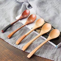 2019 cucchiai di sale di legno Cucchiai di legno di alta qualità 13 * 3cm Caffè per tè Latte Miele Articoli per la tavola Accessori da cucina Cucinare sale da zucchero Piccoli cucchiai DHL WX9-459 sconti cucchiai di sale di legno