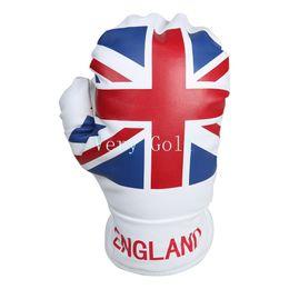 Angleterre Union Jack Gant de boxe 1 bois Golf Club Driver Headcover UK drapeau pilote couverture ? partir de fabricateur