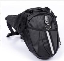 Wholesale motorcycle waist belt - NEW Men Nylon Waist Pack Leg Bag Waterproof Motorcycle Fanny Pack Drop Belt Pouch Fanny Pack Waist Belt Bag 2 COLORS