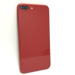 Wholesale rams radio - Touch ID Red Goophone i8 plus Quad Core MTK6580 Android 6.0 1GB RAM 8GB ROM 1280*720 HD 5.5 inch 8MP 3G WCDMA Cell Phones