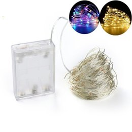 Wholesale Indoor Curtain Lights - Battery Led String Light 2M 3*AA Battery Operated Garland Outdoor Indoor Home Christmas Decoration Light Led Strip