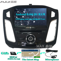 Wholesale Dvd For Ford Focus - 2G+16G Android 6.0 Car DVD Player for Ford Focus 3 Focus 2012 2013 2014 2015 with Radio BT swc GPS map WIFI