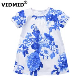 615f46f5fdec VIDMID Flowers Girls Dresses Toddler Children Clothing baby Brand Kids  Clothes for kids Girls short Sleeve Vintage Fashion