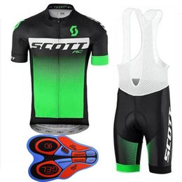 mtb gears Promo Codes - 2019 SCOTT Cycling jersey Suit Short-Sleeve racing shirt 9D bib shorts set New arrival MTB Bike Clothes breathable Men Cycling Gear H1009