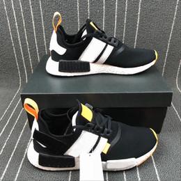 Wholesale white cotton table runner - NMD Hot Selling OFF Primeknit R1 Men Black White Brand Designer Fashion Sneakers Runner sports Basketball Running Shoes