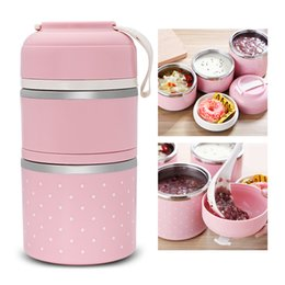 Wholesale Thermal Bento Lunch Box - 1PC New Colorful Worthbuy Thermal Lunch Box Stainless Steel Food Storage Container Mini Japanese Bento Box Leak-Proof Food Case