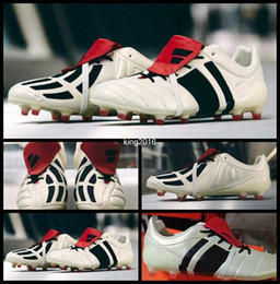 Wholesale Shoes For Mens Football Indoor - 2017 Predator Mania Champagne FG Soccer Cleats For Men High Quality Mens Football Boots Sports Outdoor Soccer Shoes Boot Sneakers Size 39-45