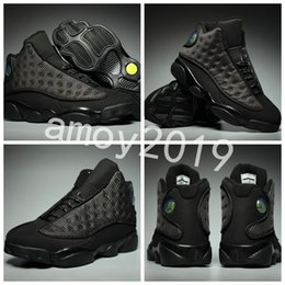 Wholesale Height Increasing Shoes Size 13 - 2018 New Retros OG Black Cat 13 Men Basketball Shoes 13s 3M Athletics Zapatos Mens Trainers Sneakers Size 41-47 WithBox