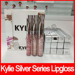 Wholesale Wholesale Cosmetic Pigments - Newest Kylie holiday collection silver series swipe pigment 12 colors lipstick lipgloss for Valentine's Day by kylie cosmetics dhl free