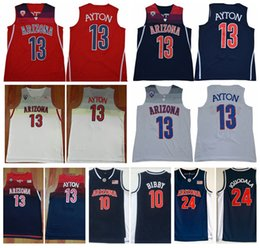 jersey iguodala Promotion Mens Arizona Wildcats DeAndre Ayton College Basketball Shirts Vintage Andre Iguodala Mike Bibby Cousu Chandails Université