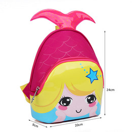 Kids Bags 2017 New Fashion Cute Waterproof Children Backpacks Cartoon  Mermaid School Bags for Kindergarten Girls Baby Bag 0940325c16378