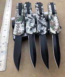 камуфляжные ручные ножи Скидка оптовик камуфляж ручка защиты автоматический нож (4 вида стилей) легкий хвостовик прочная пружина черный клинок тактический складной нож
