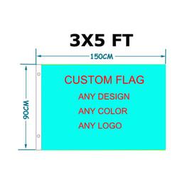 Bandiere per i paesi online-Bandiera 90x150cm poliestere bandiera personalizzata qualsiasi colore qualsiasi disegno qualsiasi paese logo bandiera americana bandiera