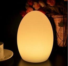 Luces led de huevo online-Envío gratis colorido LED huevo barra lámpara de mesa resistente a la rotura LED brillante iluminado huevo noche luz para Navidad LLFA