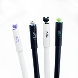 Wholesale Black Cat Art - 48 Pcs Lot Cute Cat Gel Pens 0.5mm Ballpoint Removable Refill Black Color Pen Office School Supplies Canetas Escolar