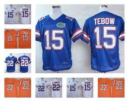 Wholesale Florida Gators Football - Men's Florida Gators #15 Tim Tebow #22 Emmitt Smith NCAA Throwback College Football Jersey Orange Blue Stitched